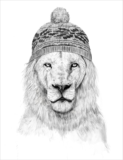Hipster lion drawing - photo#13